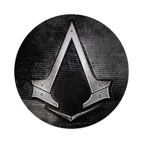 Assassins Creed Logo Sticker 4 X 4 Circle Designed By New