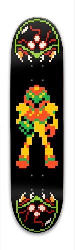 Metroid NES Park Skateboard 7.88 x 31.495