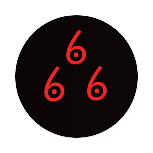 Sticker 4 x 4 Circle #171409