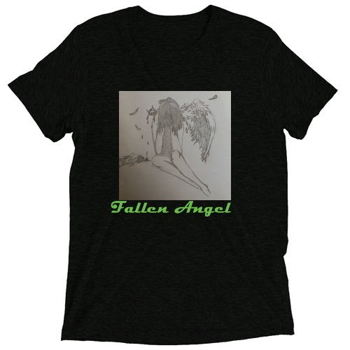 Fallen Angel Custom Tri Blend-T Shirt (Vintage Black)