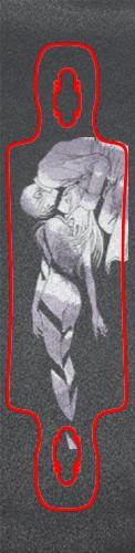Riza Hawkeye Colonel Mustang Custom skateboard griptape