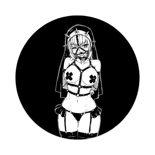 Sticker 4 x 4 Circle #197414