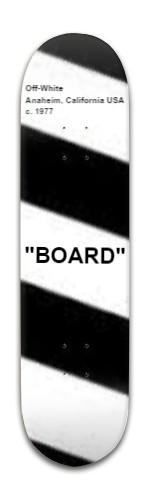 off-white board Banger Park Skateboard 8 x 31 3/4