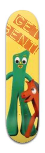 GET BENT GUMBY Banger Park Skateboard 8 x 31 3/4