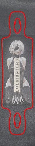 2Bhunters Custom skateboard griptape