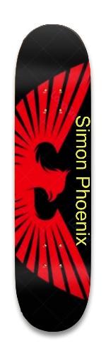Red Phoenix Park Skateboard 8.25 x 32.463