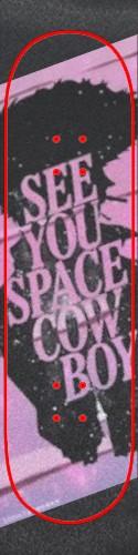 Big Pink Space Cowboy Griptape Custom skateboard griptape