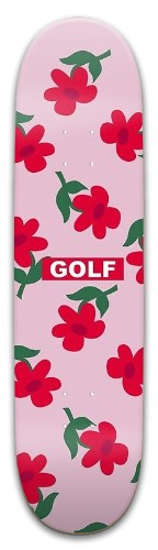 Golf X Red Flowers Park Skateboard 8 x 31.775
