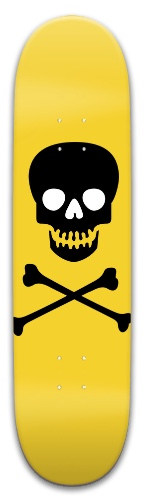 Yellow Skull Park Skateboard 8 x 31.775