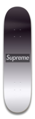 Black and White Supreme Faded Park Skateboard 7.5 x 31.370