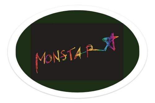 MONSTAR Sticker 6 x 4 Oval