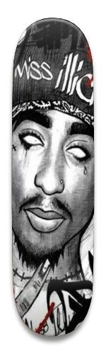 Tupac skateboard Park Skateboard 8.5 x 32.463