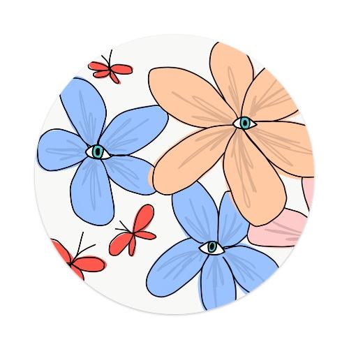 Sticker 4 x 4 Circle #234470