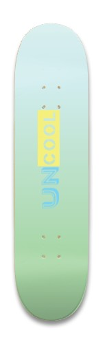 Uncool #1 Beach - Vibez Park Skateboard 8.25 x 32.463