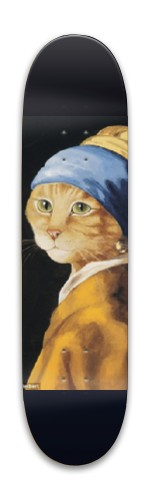 Girl with a pearl earring (cat) Park Skateboard 7.88 x 31.495