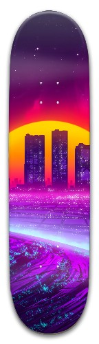 Vaporwave Park Skateboard 8 x 31.775