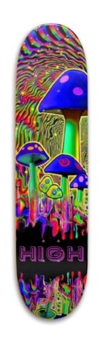 High psychedelic mushroom Park Skateboard 7.88 x 31.495