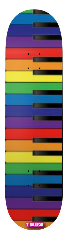 Colorful Piano Park Skateboard 8 x 31.5