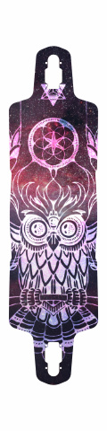 Owl Drop Through Symmetrical Downhill Longboard 10 x 38