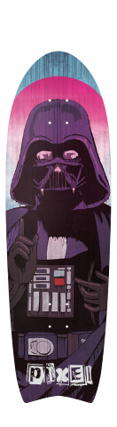 Pixel Darth Vader Religion Deck Fish Tail Cruiser 10 x 33