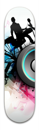 Band Jam Graphic Banger Park Skateboard 8.5 x 32 1/8