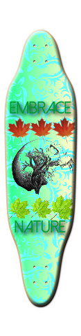 embrace nature Sloop Skateboard Deck