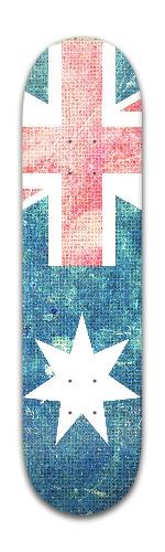 Australia Flag Canvas Banger Park Skateboard 8 x 31 3/4