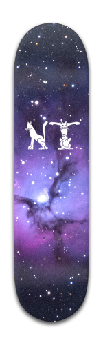 Grumpy Cat Nebula with Cat Font Banger Park Skateboard 8 x 31 3/4