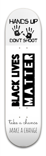 Black Lives Matter Banger Park Skateboard 8.5 x 32 1/8