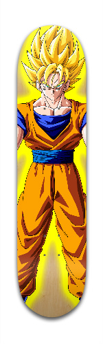 Goku Supersayian form Park Skateboard 7 3/8 x 31 1/8