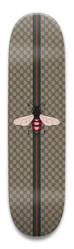 29ed2f4652b Gucci Bee Print v2 Park Skateboard 8.5 x 32.463 - Designed By ...
