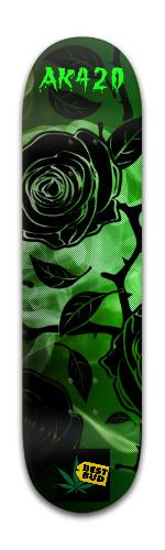 Green Rose of AK Banger Park Skateboard 8 x 31 3/4