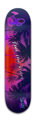 Feel the Wave Banger Park Skateboard 8 x 31 3/4