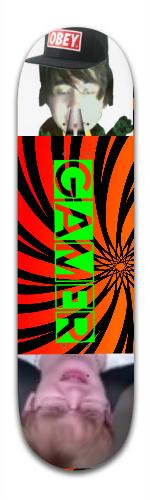 THE GAMER BOARD Banger Park Complete Skateboard 8.5 x 32 1/8