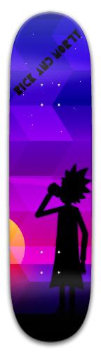 Rick and Morty Park Skateboard 8 x 31.775