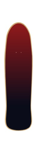 red and white skate board Poolfish Cruiser Complete