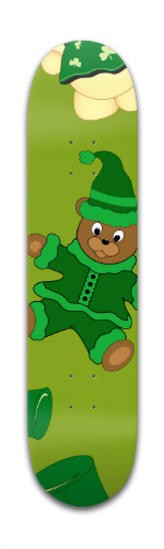 St Pattys Day Bears Banger Park Skateboard 7 3/8 x 31 1/8
